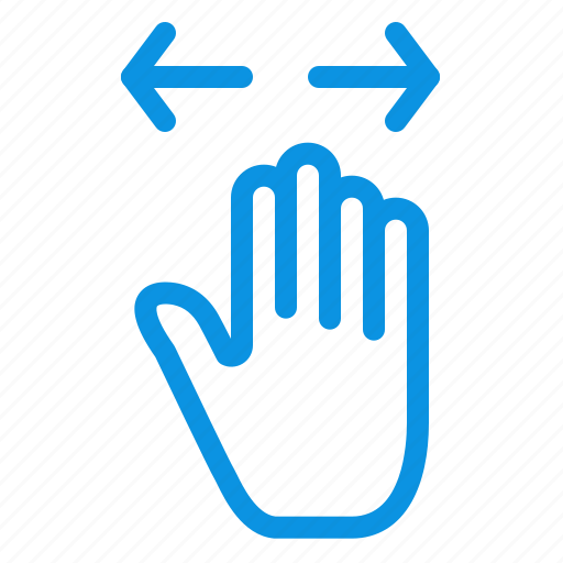 gesture, hand, left, out, right, zoom icon