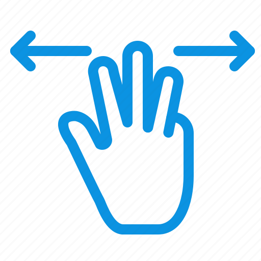fingers, gestures, hand, mobile, three icon