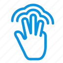 fingers, gestures, hand, interface, multiple, touch icon