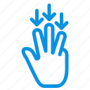 arrow, down, finger, gestures icon