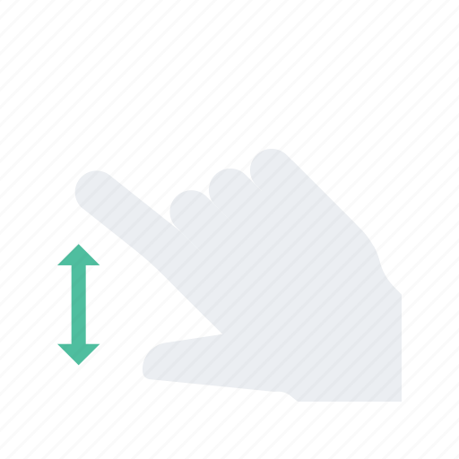 click, expand, gesture, hand, press icon