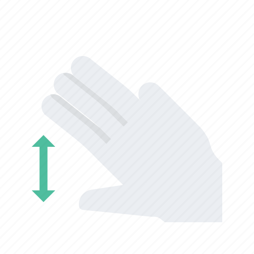 click, expand, finger, gesture, hand, press, three icon