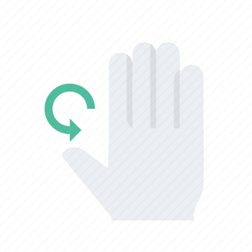 click, finger, gesture, hand, press, right, rotation icon
