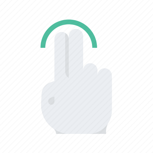 click, finger, gesture, hand, one, press icon