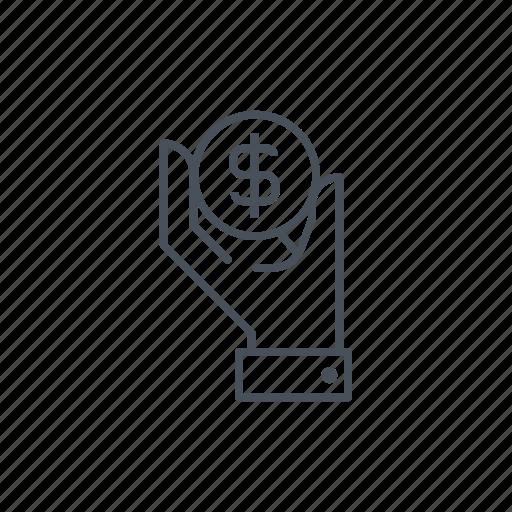 commerce, economy, finances, hands, money, wealth icon
