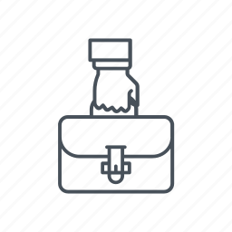baggage, briefcase, luggage, suitcase, travelling icon