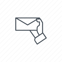 envelope, hand, letter, mail, message icon