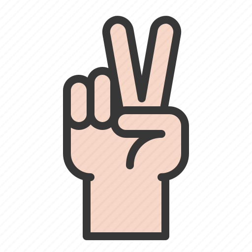 Finger, gesture, hand, hand gesture, interaction, two icon - Download on Iconfinder