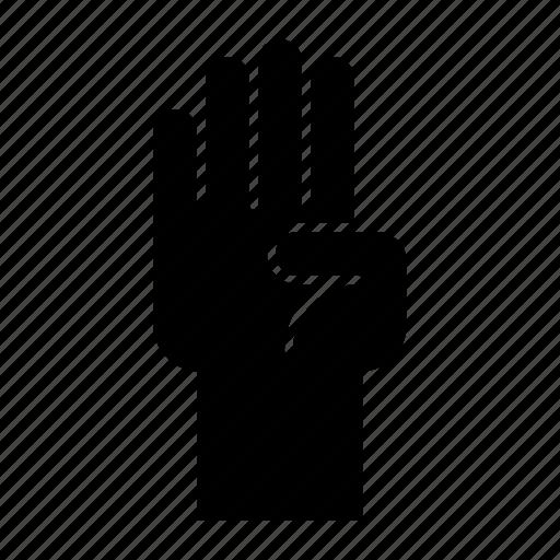Finger, four, gesture, hand, hand gesture, interaction icon - Download on Iconfinder