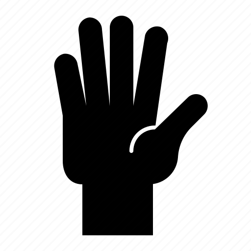 Finger, five, gesture, hand, hand gesture, interaction icon - Download on Iconfinder