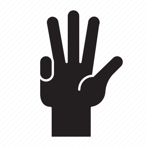 Finger, four, gesture, hand, hand gesture, interaction icon - Download on Iconfinder
