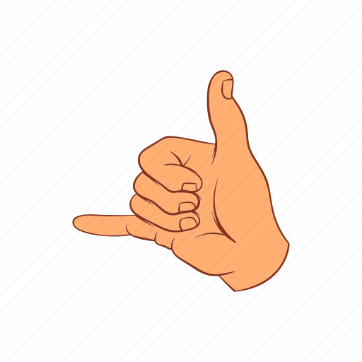 call, cartoon, concept, finger, gesture, hand, sign icon