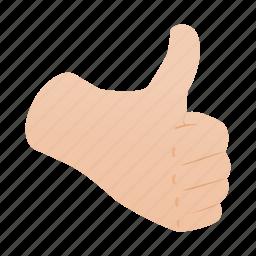finger, good, hand, isometric, success, thumb, up icon