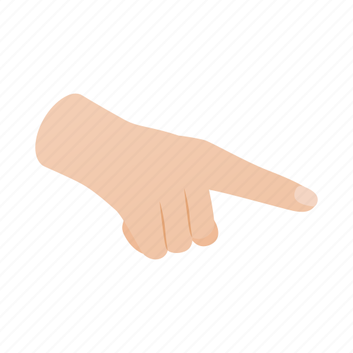 direction, finger, forefinger, gesture, hand, isometric, point icon