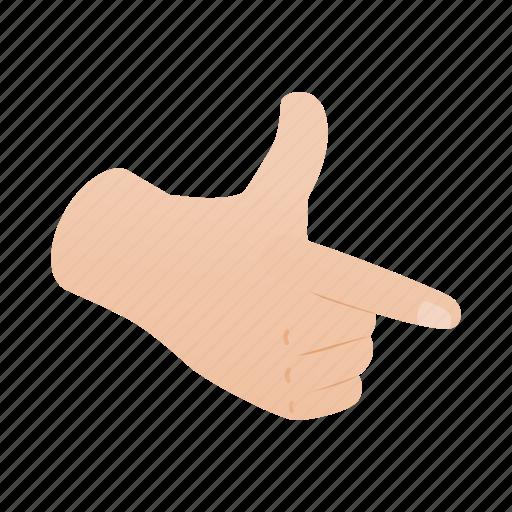 direction, finger, forefinger, gesture, hand, isometric, pistol icon