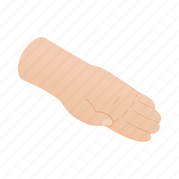 arm, concept, finger, hand, human, isometric, palm icon