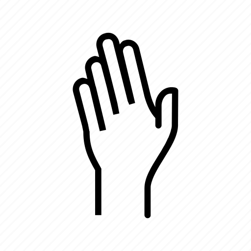 fingers, hand, raise, raising, wave icon