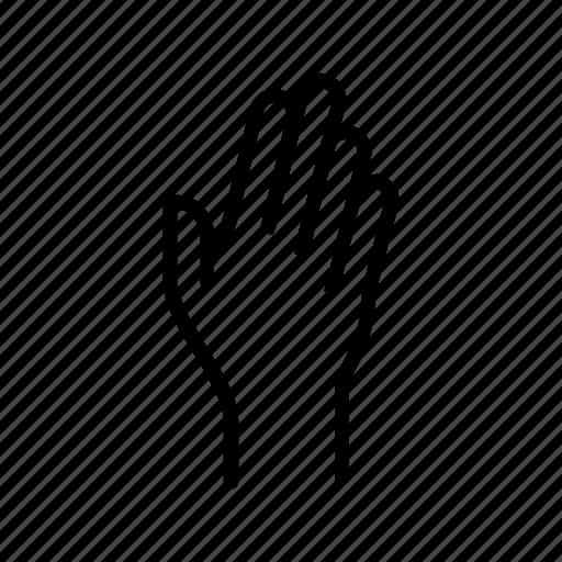 fingers, hand, raise, raising, wave icon
