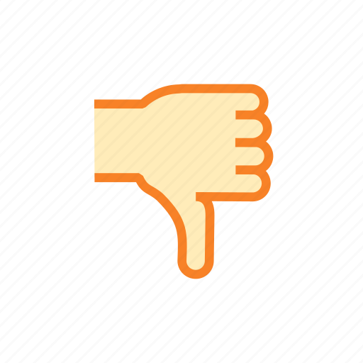 disapprove, dislike, down, hand, hate, thumb, thumbs icon