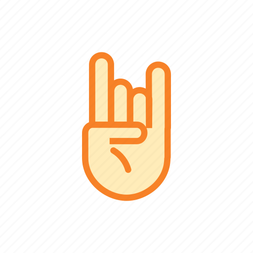 fingers, hand, rock, rocking, sign icon