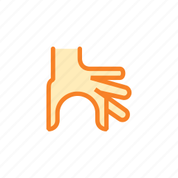 fingers, gesture, hand, holding, measurement, right, zoom icon