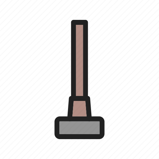 construction, equipment, hammer, iron, sledgehammer, tool, work icon