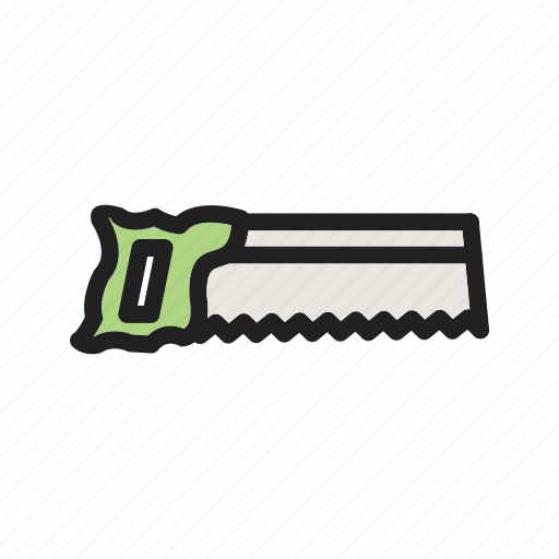carpentry, cut, object, saw, tennon, tool, wood icon