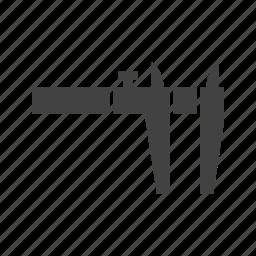 accuracy, caliper, equipment, instrument, measuring, steel, tool icon