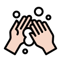 bubble, clean, coronavirus, hand, handwashing, hygiene, wash icon