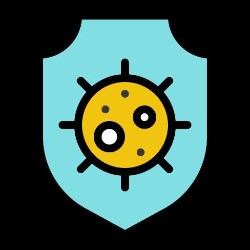 bacteria, coronavirus, disease, hygiene, infect, protect, shield icon