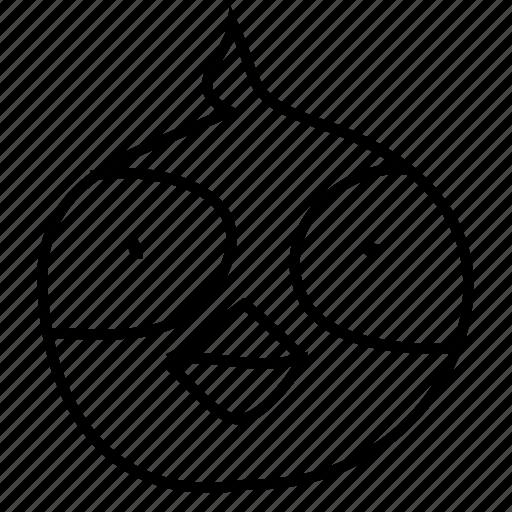 avatar, emotion, owl icon