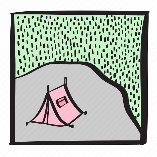 camping, campsite, holiday, roadtrip, summer, tent icon