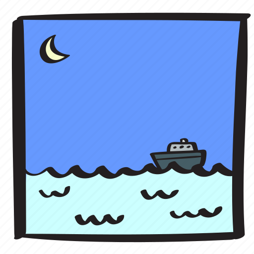 cruise, ferry, holiday, ocean, sea, summer, vacation icon