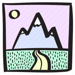 drive, holiday, mountain, nature, purple, road, roadtrip icon