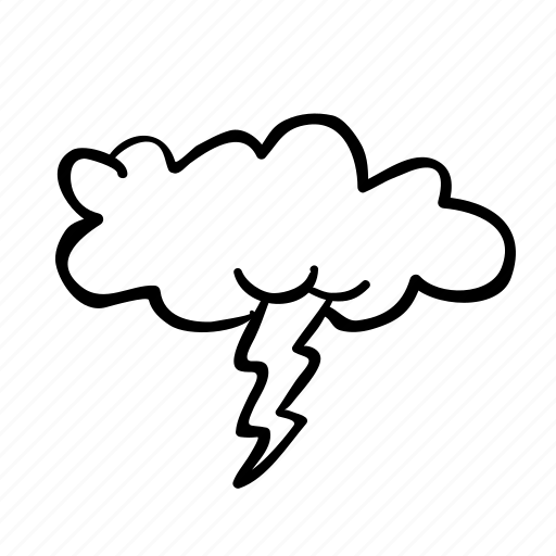 cloud, forecast, outline, rain, storm, weather icon