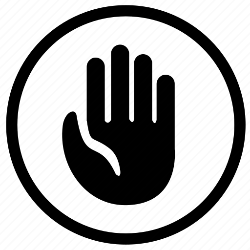 hand, label, scanner, sign, stop icon
