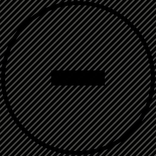 browser, cancel, erase, minus, operation icon
