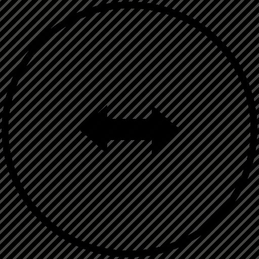 arrows, horizontal, navigation, scroll icon