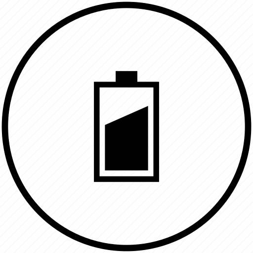 battery, charge, finger, level, medium, mobile, vertical icon