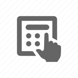 calculate, hand, human, input, manipulate icon