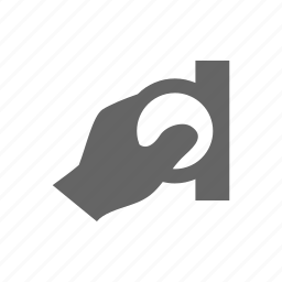 coin, hand, human, insert, manipulate icon