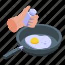 frying, egg, isometric