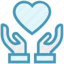heart, giving, care, healthcare, hands support, safe, support icon