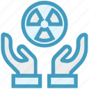 care, giving, hands support, safe, support, turbine, ventilator icon