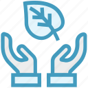 care, ecology, giving, leaf, safe, support icon