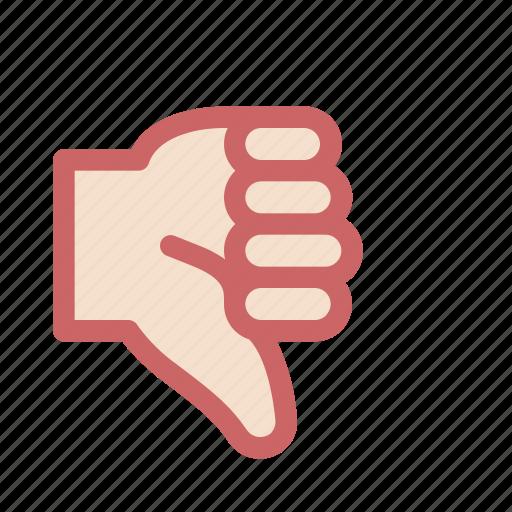 dislike, finger, gesture, hand, hate, resent, thumb icon