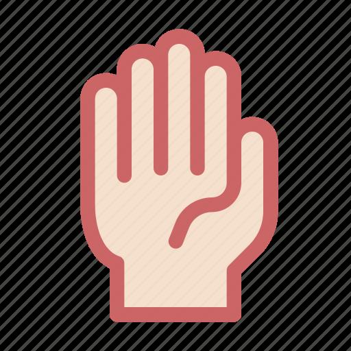 finger, five, gesture, hand, prayer, regard icon