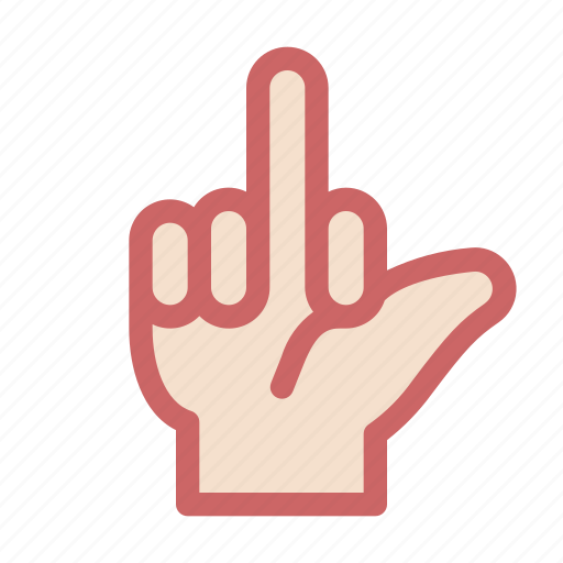 dislike, finger, fuck, gesture, hand, hate, two icon