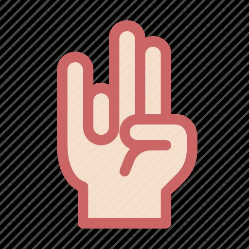 finger, gesture, hand, lie, rock, rocker, three icon