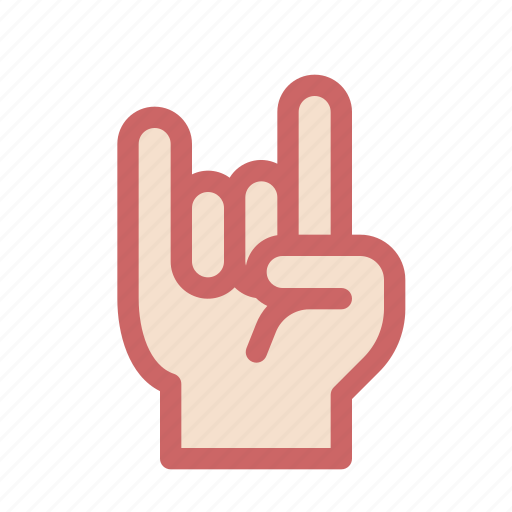 finger, gesture, hand, rock, rocker, two icon